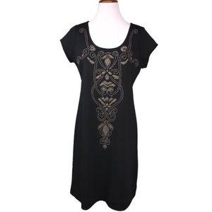 Karen Kane Beaded Black Shift Dress